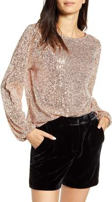 Chelsea28 Sequin Long Sleeve Top