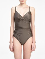 Calvin Klein Bronze V-Neck Swimsuit