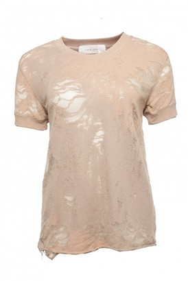 IRO Beige Cotton Top for Women