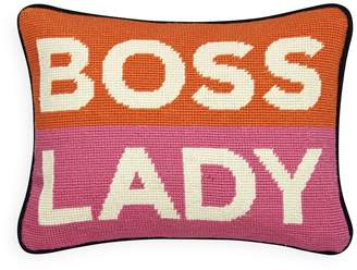 Jonathan Adler Boss Lady Needlepoint Pillow