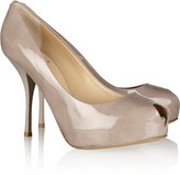 Giuseppe Zanotti Patent-leather peep-toe pumps