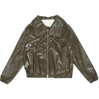Celine Green Leather Jackets