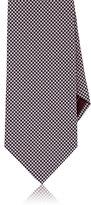 Brioni Men's Micro-Houndstooth Jacquard Necktie-PINK