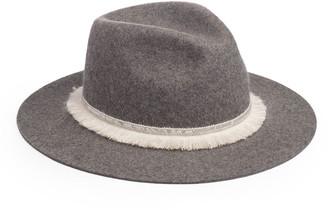 Eugenia Kim Georgina Wool Fedora Hat w/ Sequin Fringe Band
