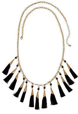 Bijoux Bar Fringe Statement Necklace