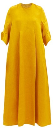 Toogood The Oil Rigger Linen-blend Swing Maxi Dress - Yellow