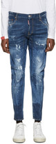 DSQUARED2 Blue Tidy Biker Jeans
