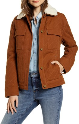 Pendleton Sidney Barn Faux Shearling Trim Coat
