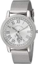 U.S. Polo Assn. Women's Quartz Metal and Alloy Casual Watch, Color:-Toned (Model: USC40109)