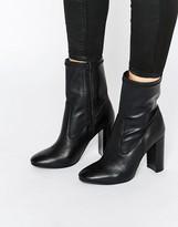 Faith Sock Calf Heeled Boots
