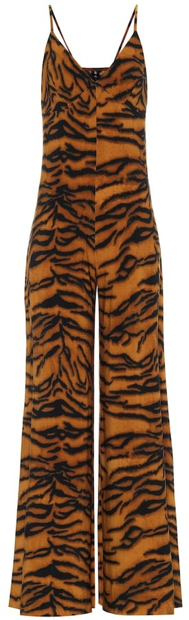 Thumbnail for your product : Norma Kamali Exclusive to Mytheresa Tiger-print jumpsuit