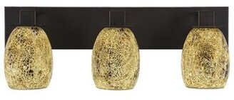 Ebern Designs Conneely 3-Light Vanity Light Shade Color: Gold