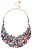 Betsey Johnson Confetti Multi Stone Large Bib Necklace