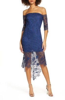 Chi Chi London Korina Off the Shoulder Lace Cocktail Dress