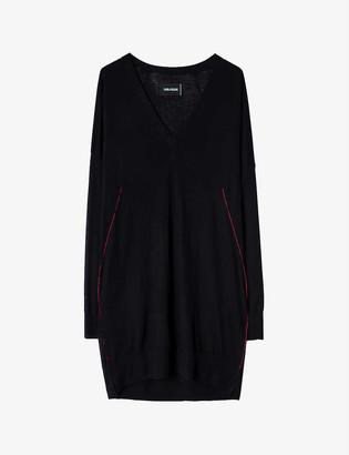 Zadig & Voltaire Franny contrast-trim merino wool dress