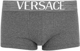 Versace Grey Ribbed Stretch Cotton Boxer Briefs