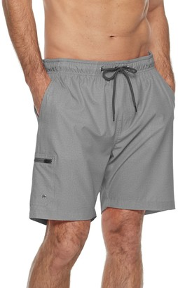 Free Country Men's 4-Way Stretch Textured Swim Shorts