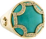 Elizabeth Showers Maltese Diamond Turquoise Ring