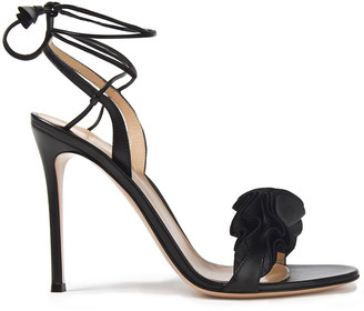 Gianvito Rossi Ruffled Leather Sandals