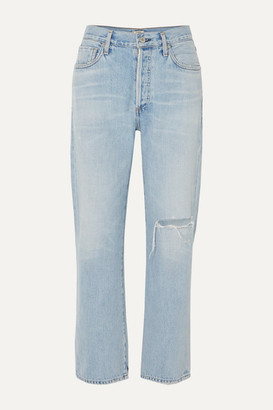 Citizens of Humanity Mckenzie Distressed Mid-rise Straight-leg Jeans - Light denim