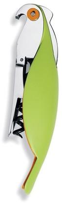 Alessi Parrot Cast Aluminium Cork Screw Green