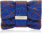 Jimmy Choo CHANDRA/S Madeline Mix Holographic Multi Crystals Clutch Bag with Multi Hotfix Bracelet