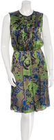 Etro Silk Abstract Floral Print Dress