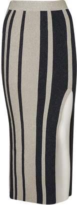 Self-Portrait Self Portrait Striped Fitted Skirt
