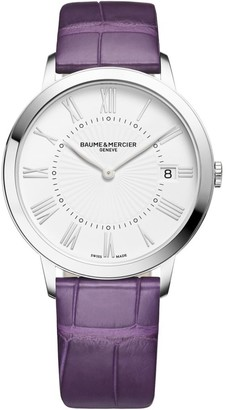 Baume & Mercier Classima Stainless Steel & Alligator Strap Watch