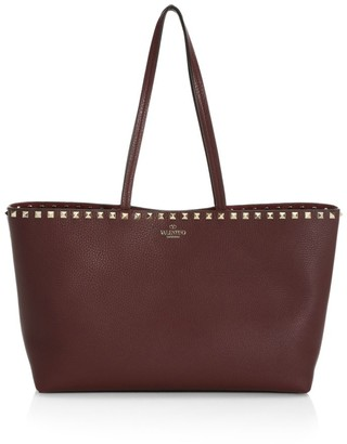 Valentino Small Rockstud Leather Tote