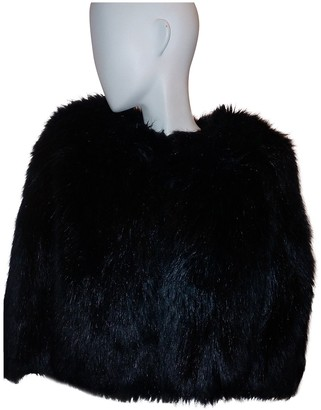 Elisabetta Franchi Black Faux fur Coats