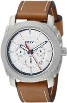 Fossil Men's FS5063 Machine Stainless Steel Watch with -Leather Band