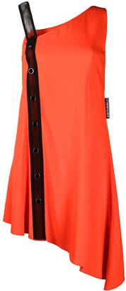 Just Cavalli Asymmetric Mesh-Detail Dress