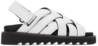 Rosetta Getty White Woven Sandals