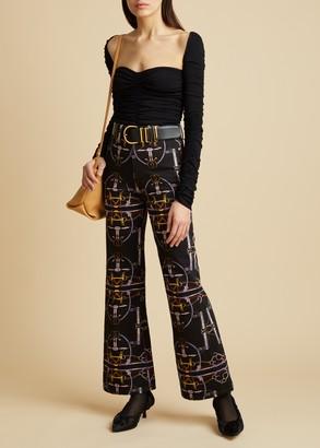 KHAITE The Gabbie Jean in Heritage Print