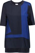 DKNY Layered silk top