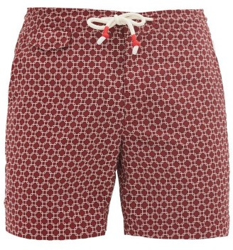 Orlebar Brown Standard Geometric-print Swim Shorts - Red
