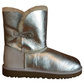 UGG Silver Leather Boots