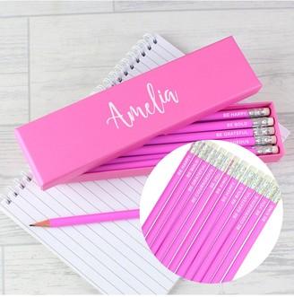 Personalised Box of Motivational Pencils