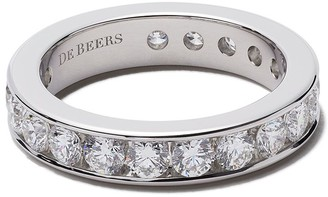De Beers Platinum Channel Set Full diamond eternity band