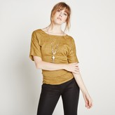 Apricot Batwing Necklace Top