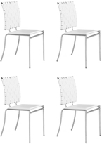 ZUO Criss-Cross Dining Chairs (Set of 4)