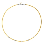 Alor Diamond Stud Yellow Cable Choker Necklace, 17.5