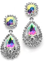 Mariell Sparkling AB Crystal Dangle Earrings - Glam for Prom, Bridesmaids, Pageants, Homecoming & Parties