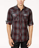 INC International Concepts Men's Plaid Shirt, Created for Macy's