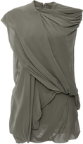 Rick Owens Bundle Loose Draped Sleeveless Top