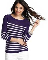 LOFT Textured Button Shoulder Sweater