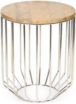 One Kings Lane Ashley Side Table, Wood/Silver