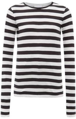 Raey Long-sleeved Striped Slubby Cotton-jersey T-shirt - Womens - Black Stripe
