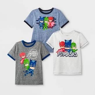 PJ Masks Toddler Boys' 3pk PJ Masks Short Sleeve T-Shirts - Blue/White/Gray